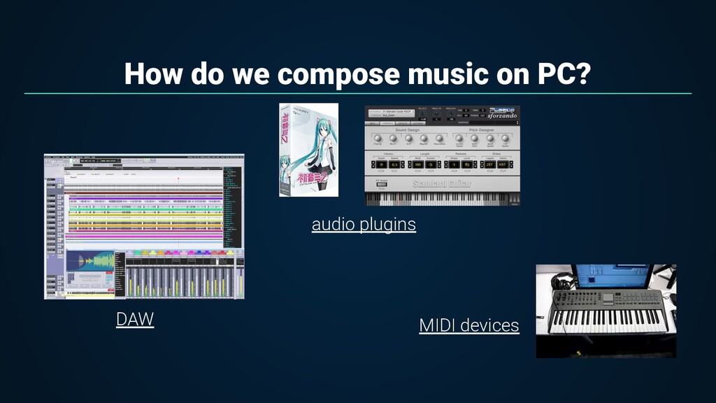 How do we compose music on PC? DAW audio plugin...
