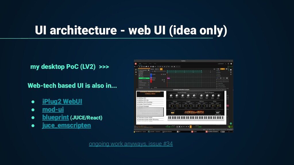 UI architecture - web UI (idea only) my desktop...