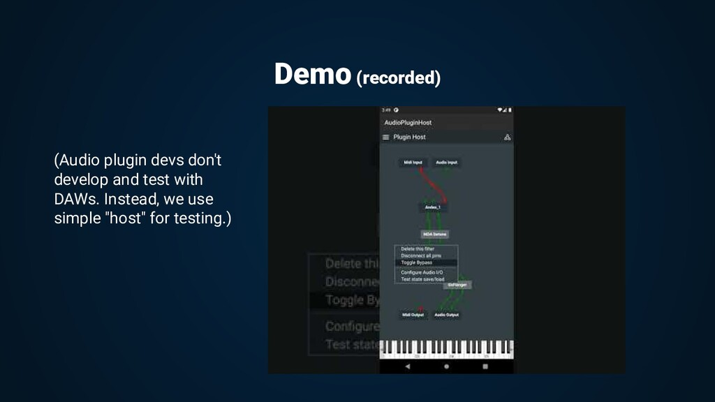 Demo (recorded) (Audio plugin devs don't develo...