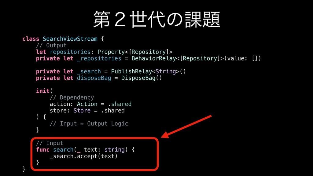 ୈ̎ੈͷ՝ class SearchViewStream { // Output let ...