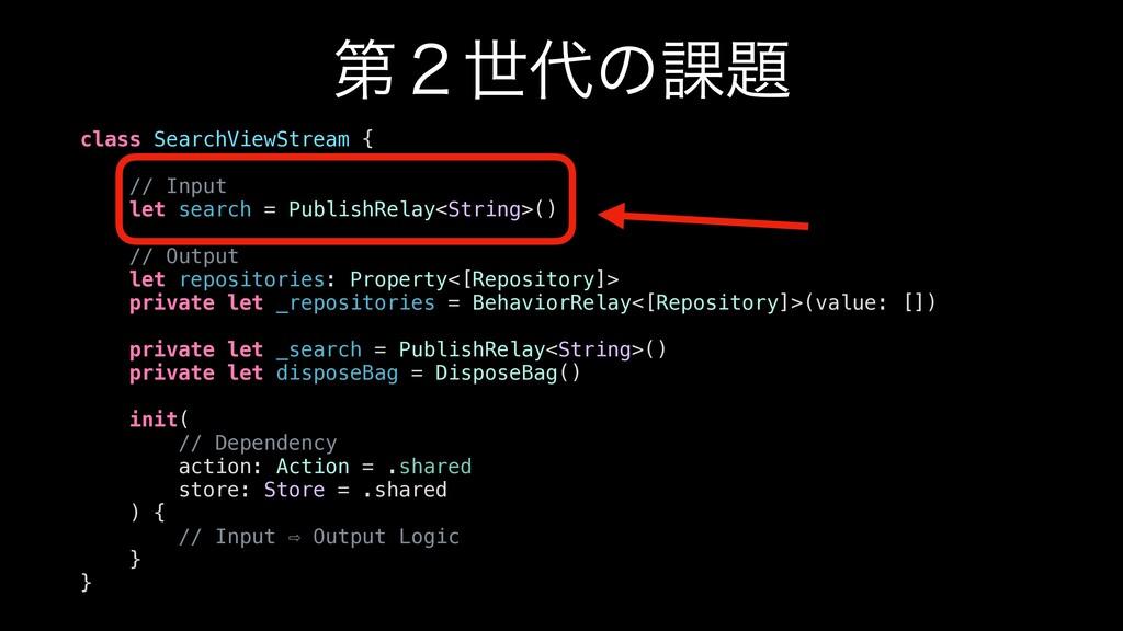 ୈ̎ੈͷ՝ class SearchViewStream { // Input let s...