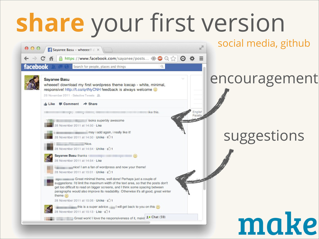 make encouragement suggestions share your first ...