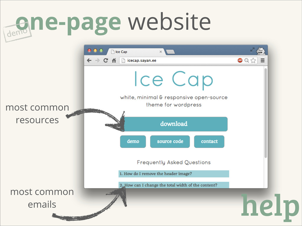 one-page website demo most common emails help m...