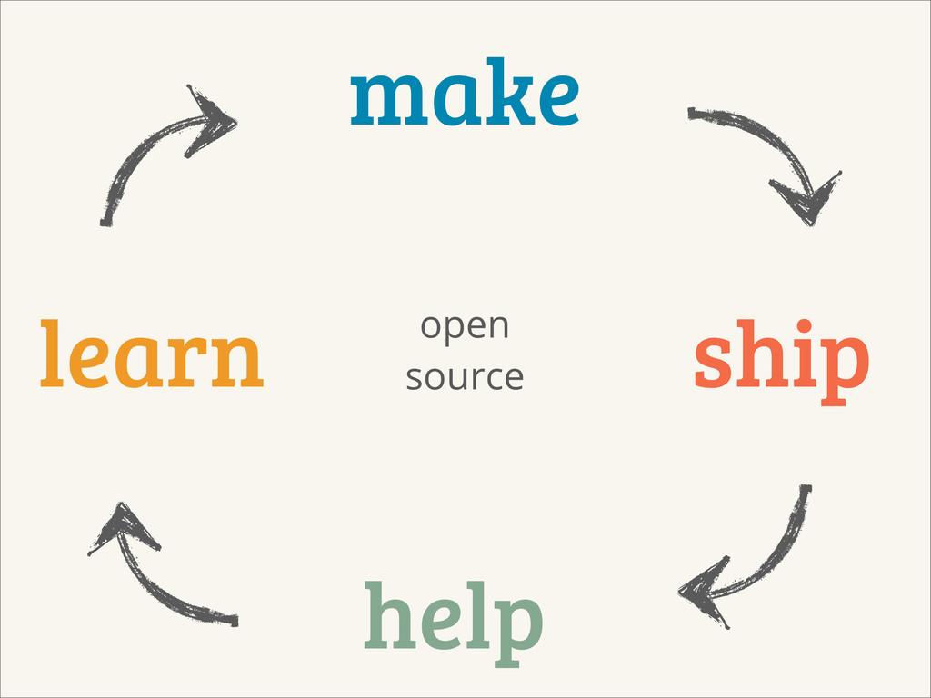 make learn ship help open source