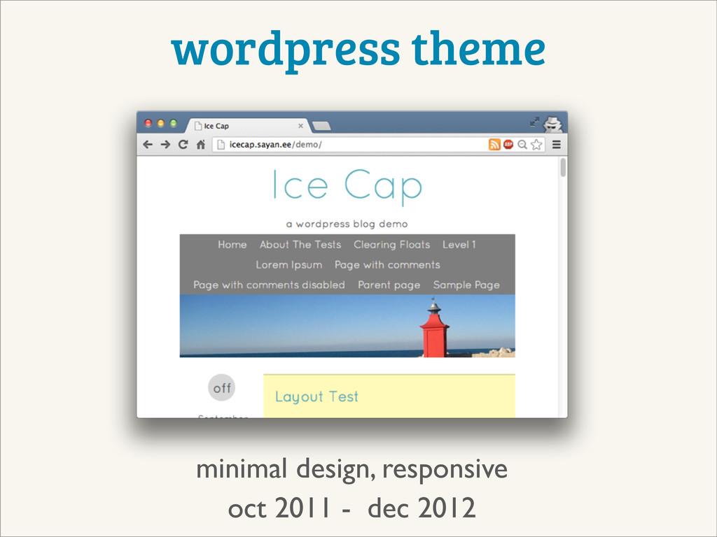 wordpress theme oct 2011 - dec 2012 minimal des...