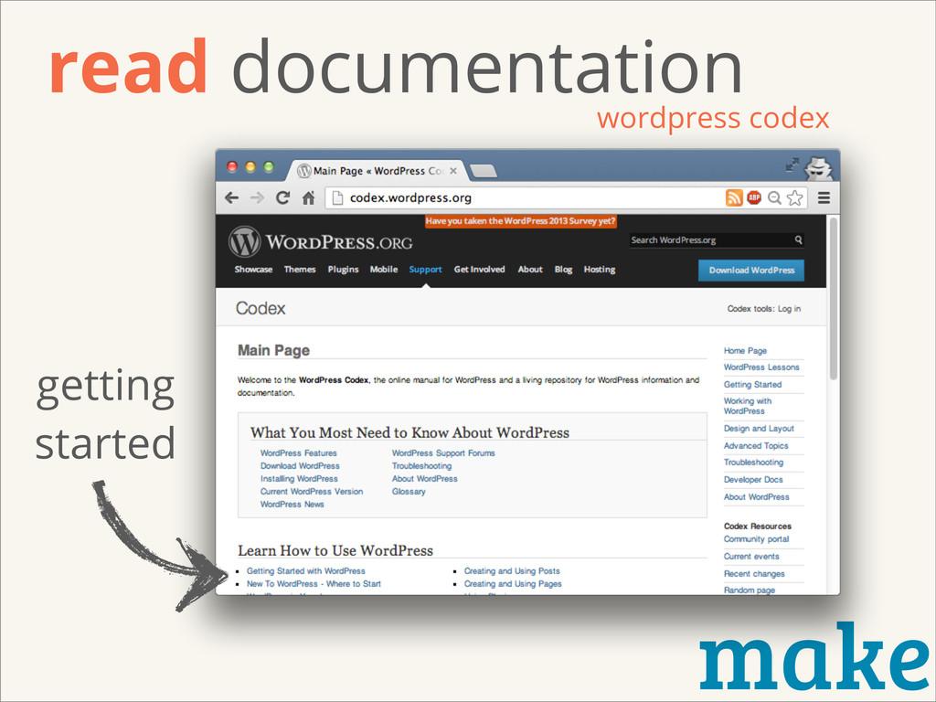 make read documentation wordpress codex getting...