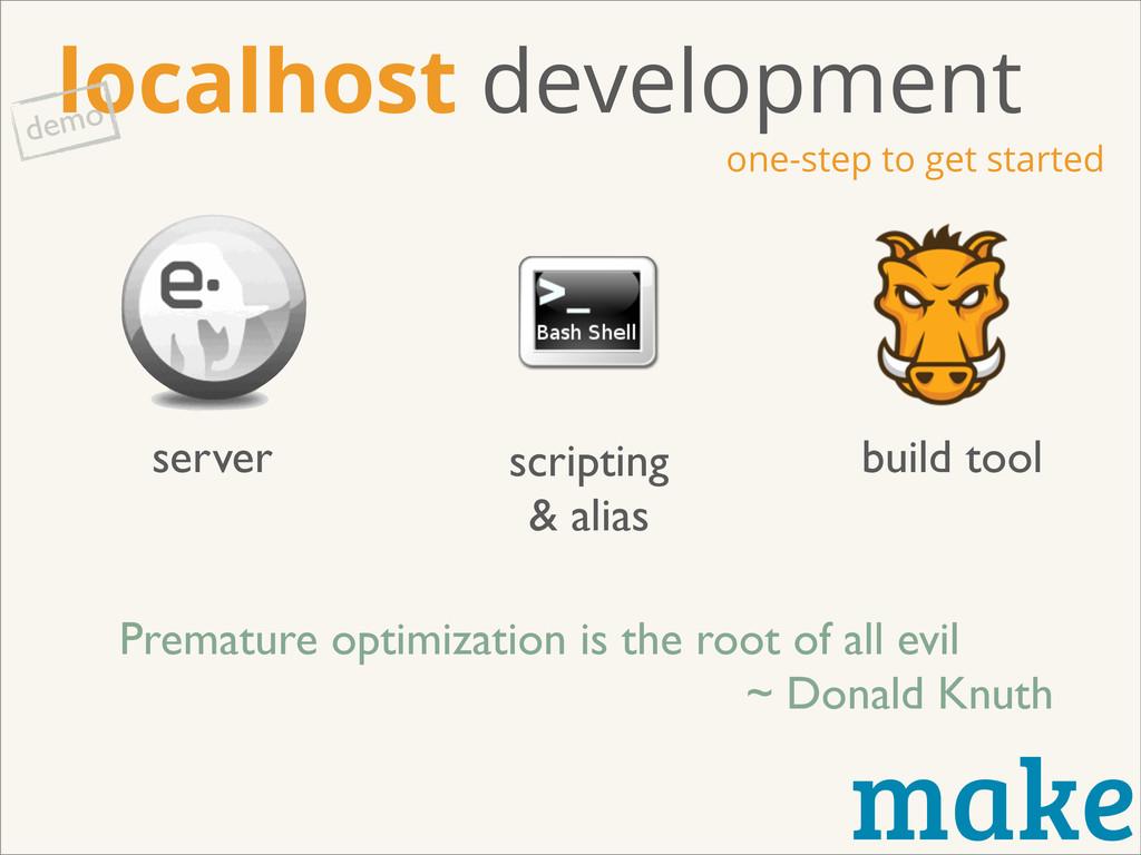 make localhost development one-step to get star...
