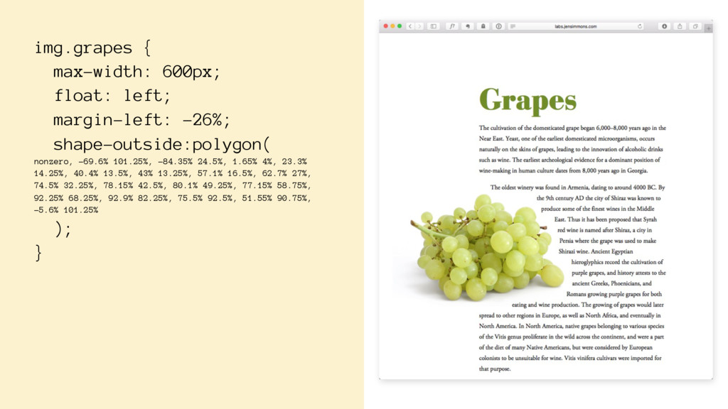 img.grapes { max-width: 600px; float: left; mar...