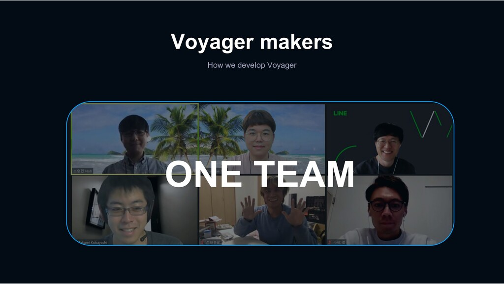Voyager makers How we develop Voyager ONE TEAM