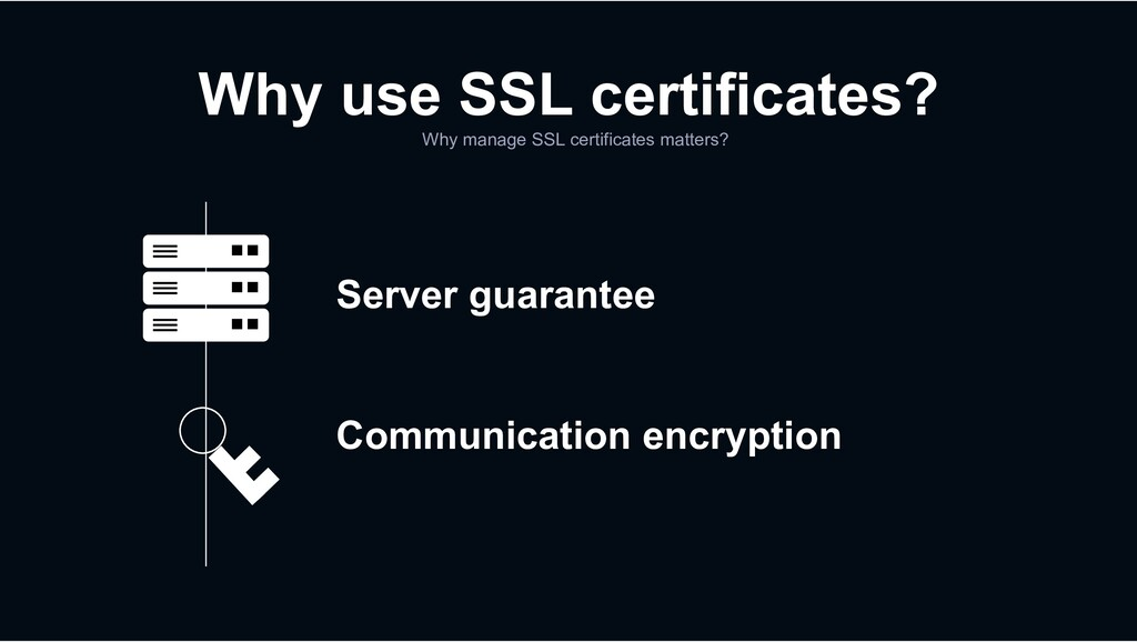 Server guarantee Communication encryption Why m...