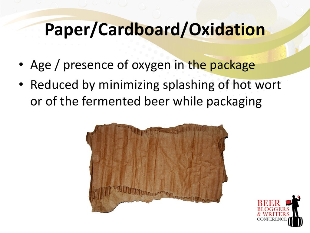 Paper/Cardboard/Oxidation • Age / presence of o...
