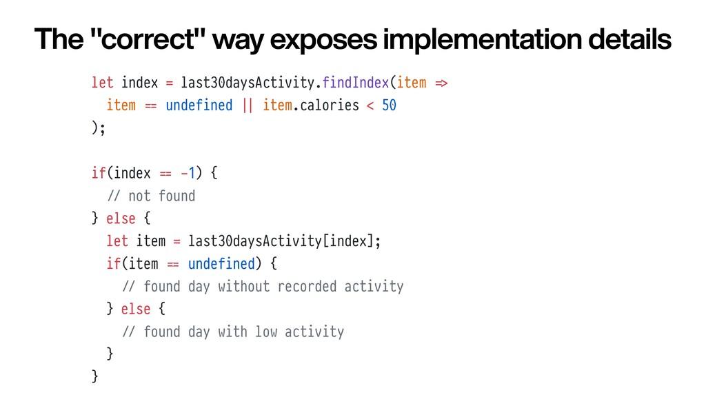 let index = last30daysActivity.findIndex(item =...