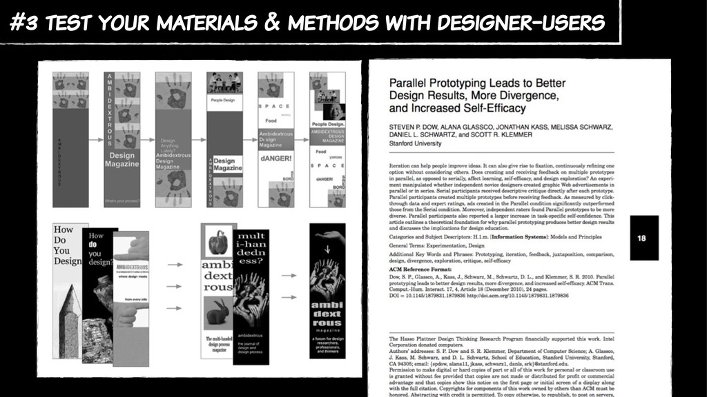 #3 test your materials & methods with designer-...