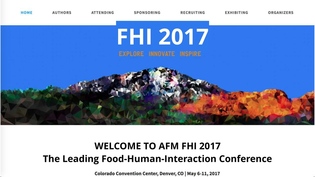 WELCOME TO AFM FHI 2017 The Leading Food-Human-...