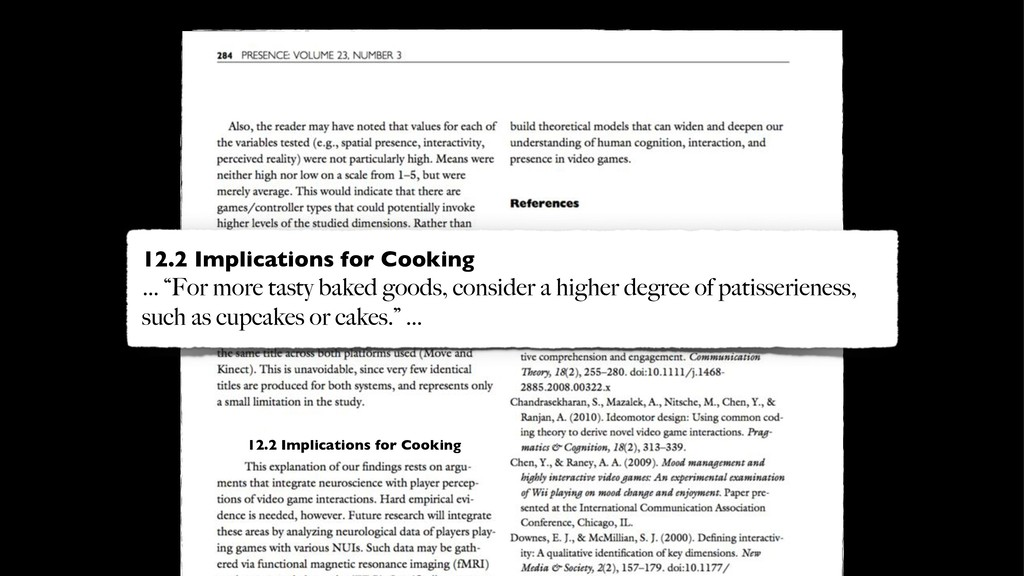 12.2 Implications for Cooking 12.2 Implications...