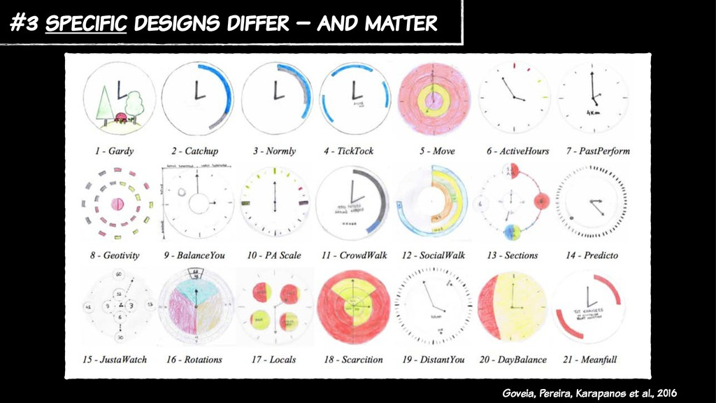 #3 specific designs differ – and matter Goveia,...