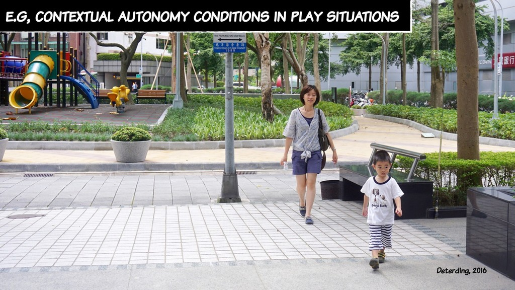 e.g, contextual autonomy conditions in play sit...