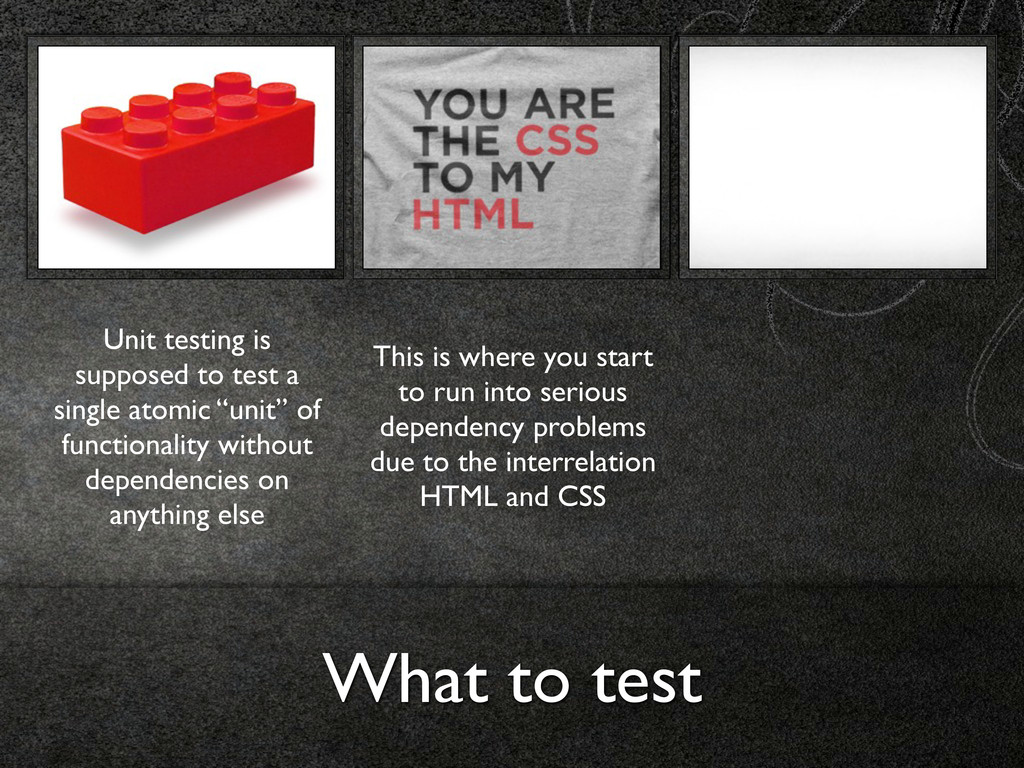 What to test Unit testing is supposed to test a...