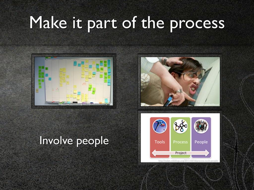 Make it part of the process http://rosarioconsu...