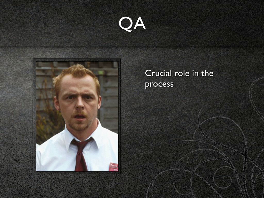 QA Crucial role in the process