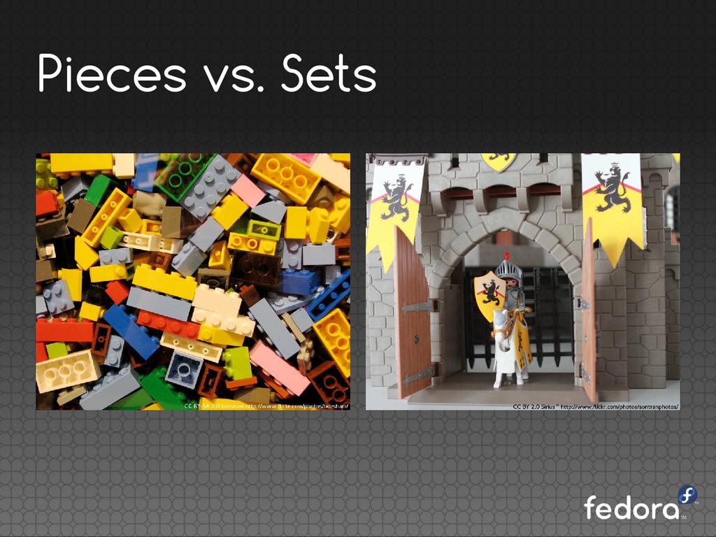 Pieces vs. Sets