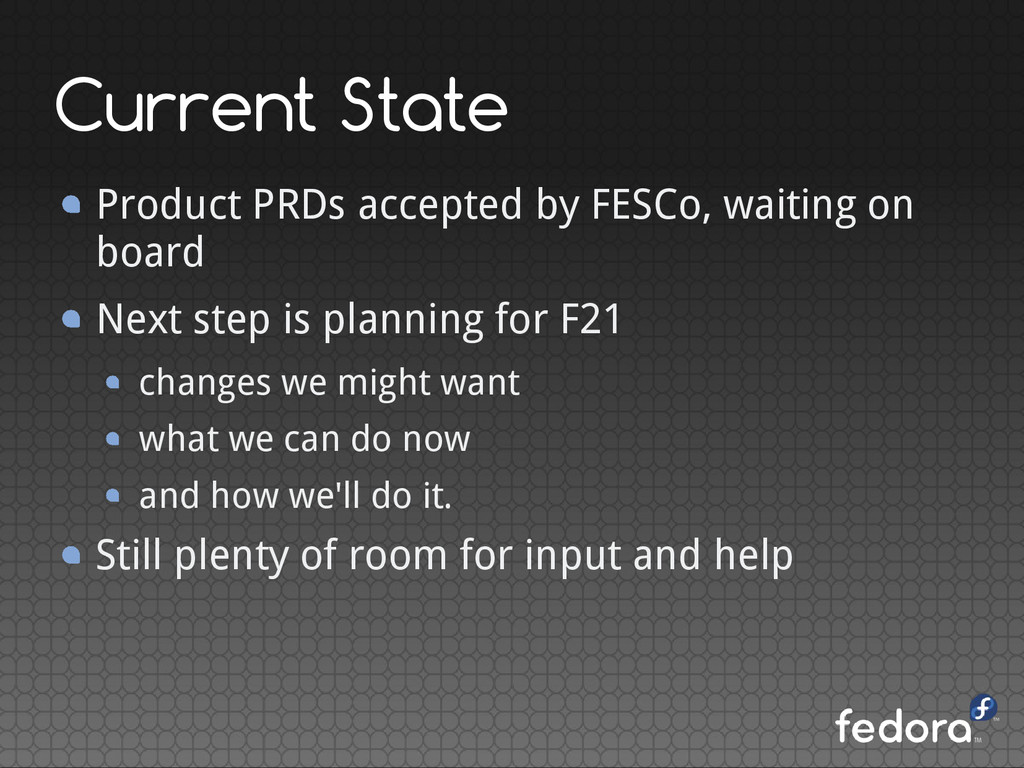 Current State Product PRDs accepted by FESCo, w...