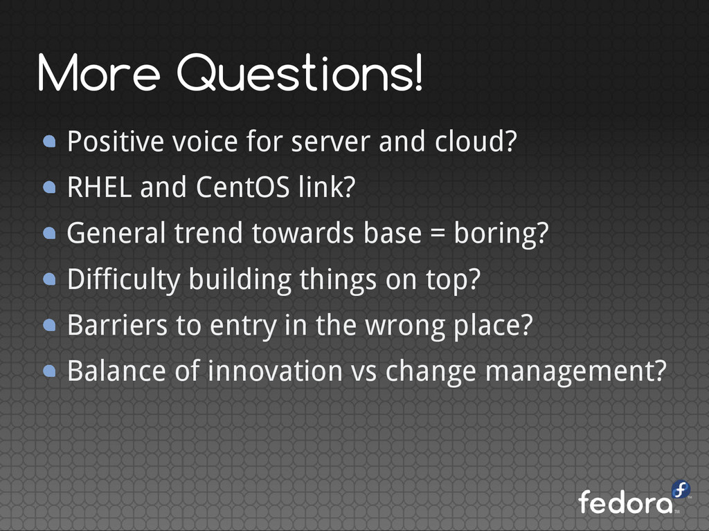 More Questions! Positive voice for server and c...