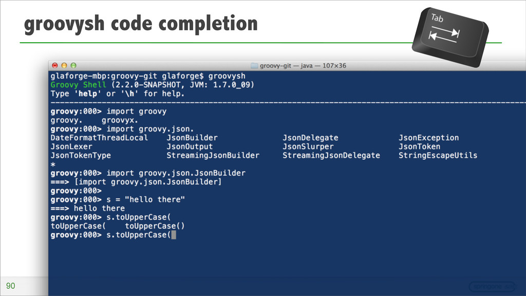 groovysh code completion 90
