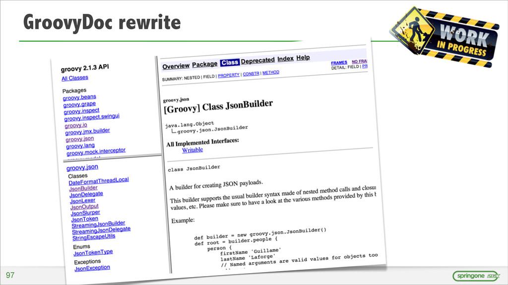 GroovyDoc rewrite 97