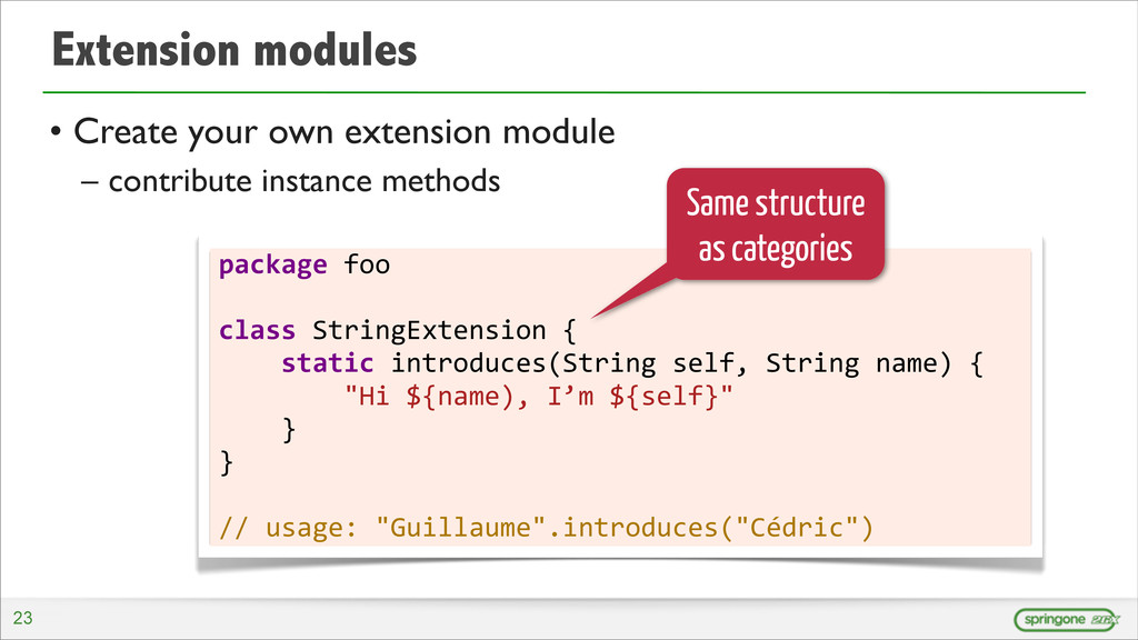 Extension modules • Create your own extension m...