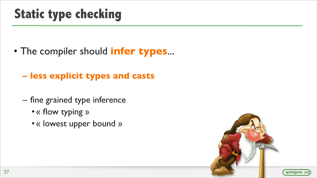 Static type checking • The compiler should infe...
