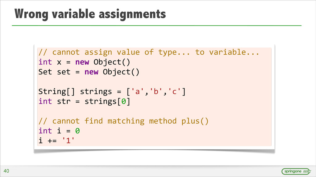 Wrong variable assignments // cannot assi...