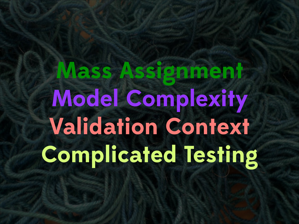 Mass Assignment Model Complexity Validation Con...