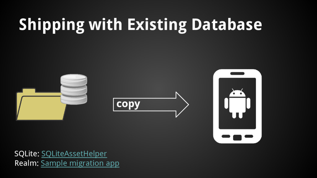 Shipping with Existing Database copy SQLite: SQ...
