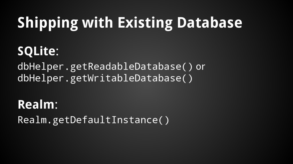 Shipping with Existing Database SQLite: dbHelpe...