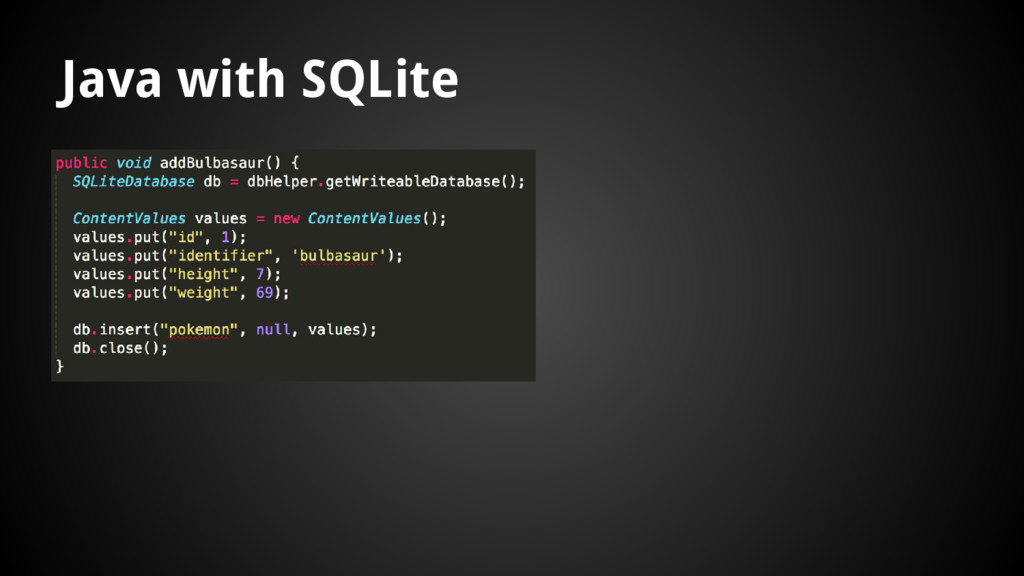 Java with SQLite