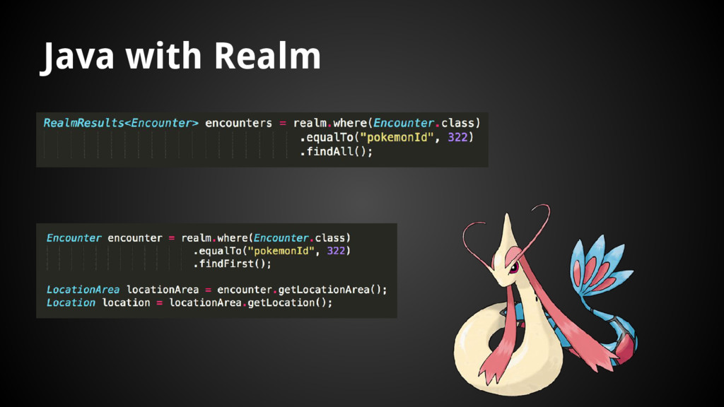 Java with Realm