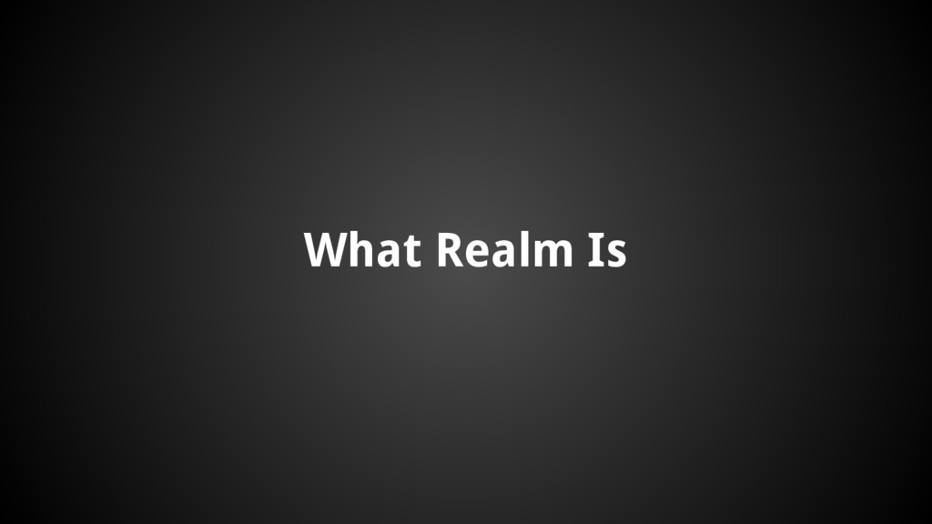 What Realm Is