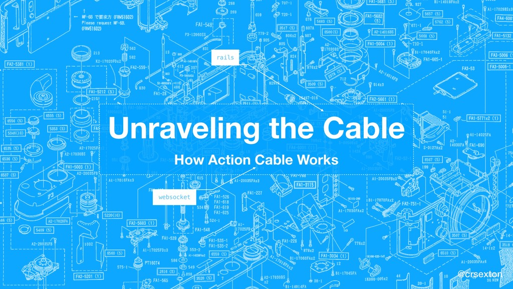 @crsexton Unraveling the Cable How Action Cable...