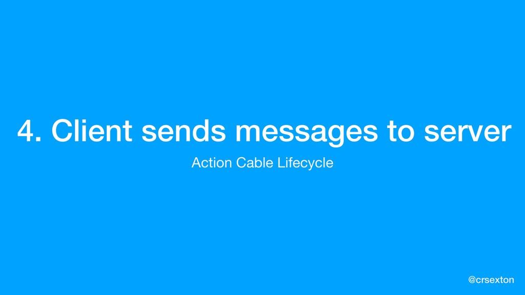 @crsexton 4. Client sends messages to server Ac...