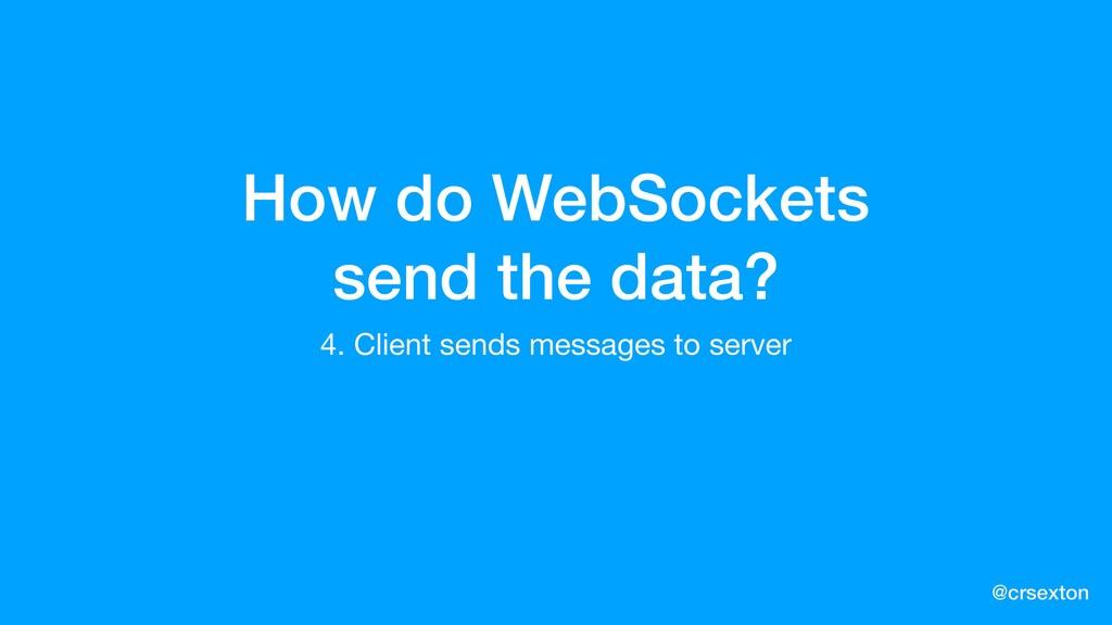 @crsexton How do WebSockets send the data? 4. C...