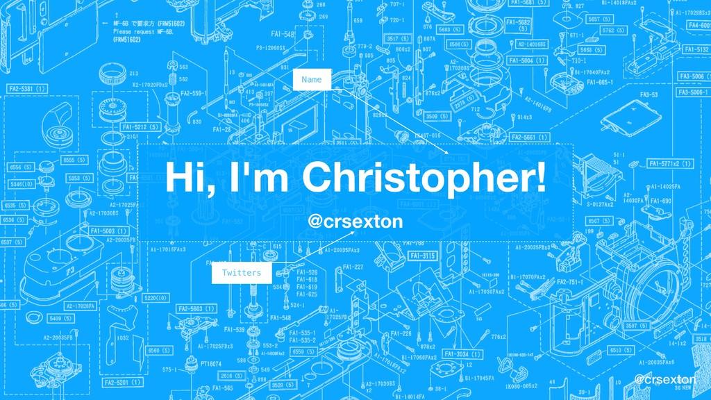 @crsexton Hi, I'm Christopher! @crsexton Name T...
