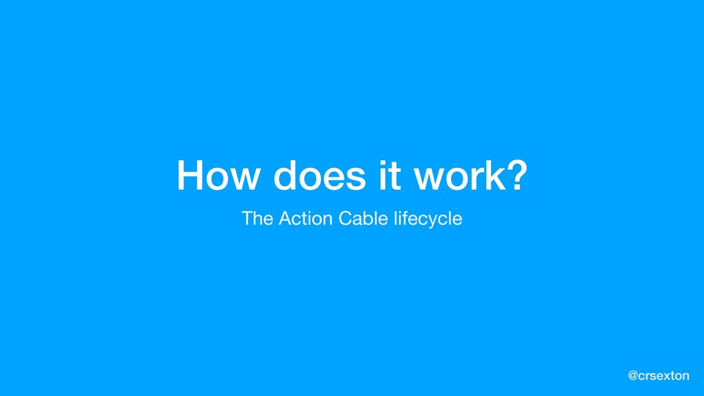 @crsexton How does it work? The Action Cable li...