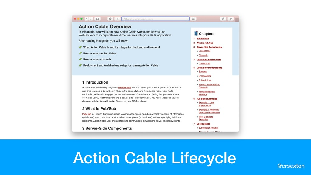 @crsexton Action Cable Lifecycle