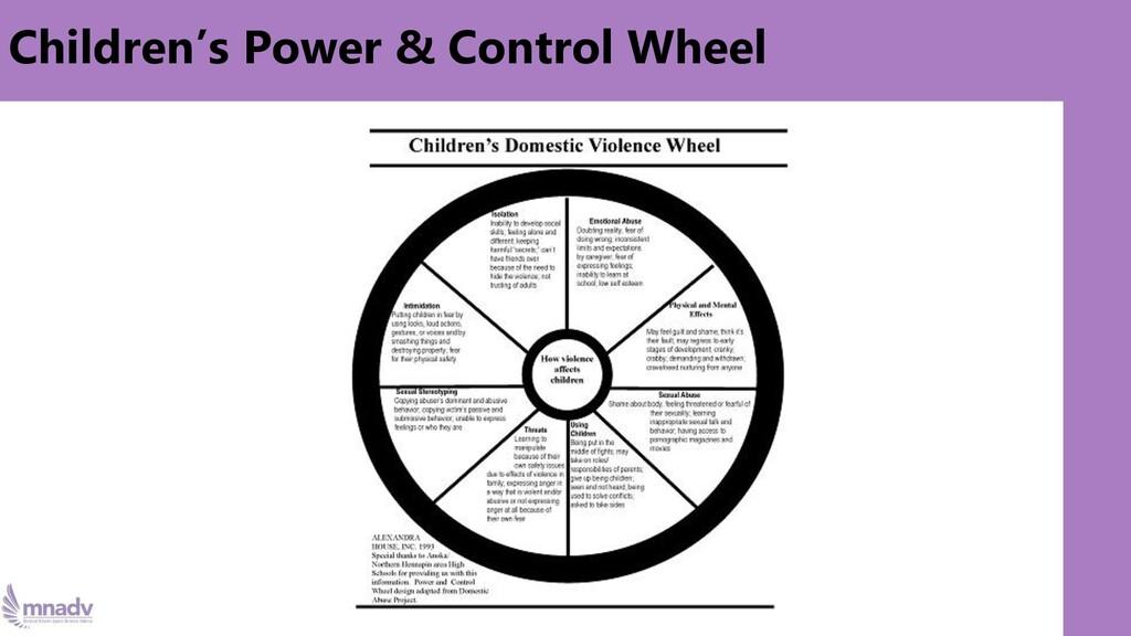 Children's Power & Control Wheel