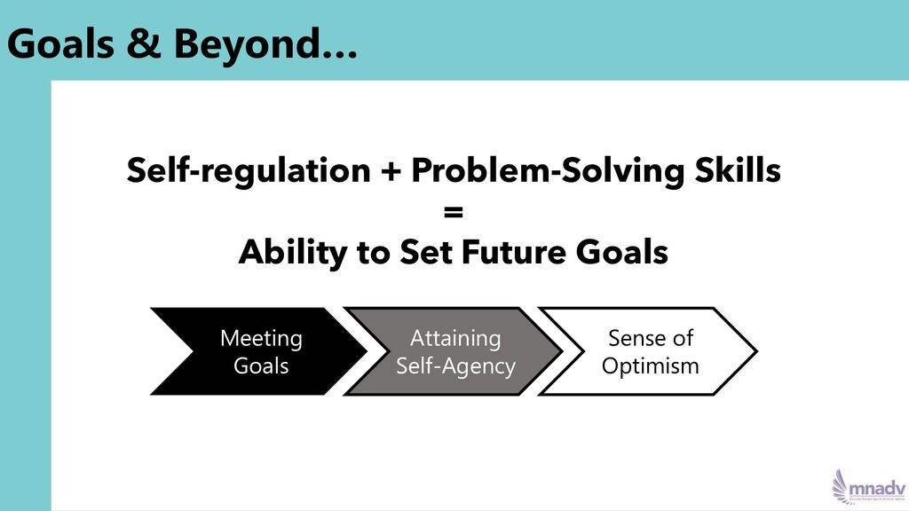 Goals & Beyond… Self-regulation + Problem-Solvi...