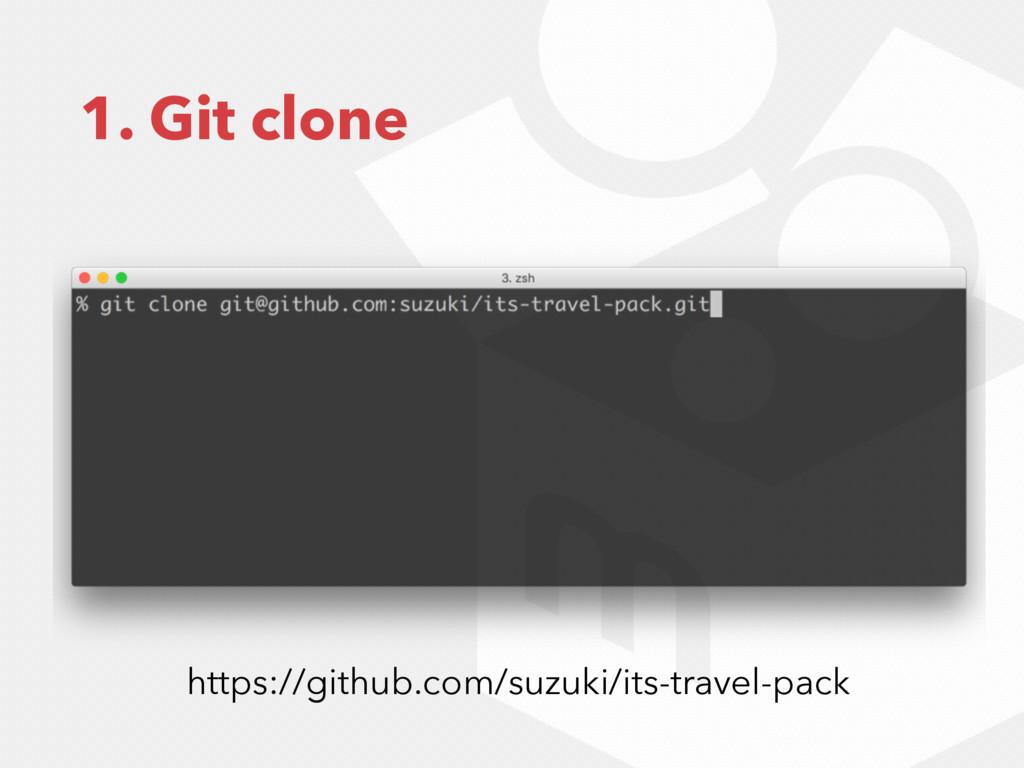 1. Git clone https://github.com/suzuki/its-trav...
