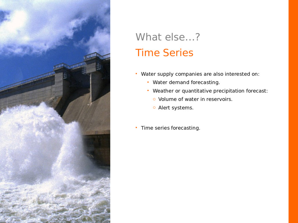 What else…? Time Series • Water supply companie...