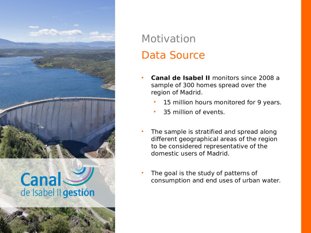 Motivation Data Source • Canal de Isabel II mon...