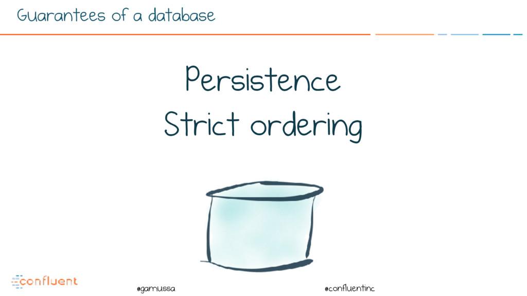 @ @gamussa @confluentinc Guarantees of a databa...